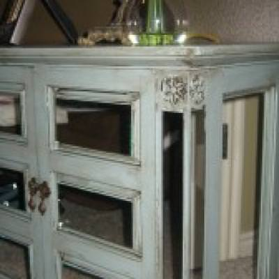 DIY Mirrored Furniture {step by step}