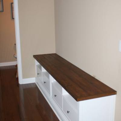 DIY Mudroom Bench with Storage {Benches}