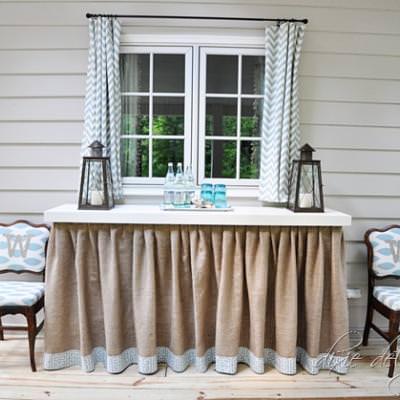 DIY Skirted Table