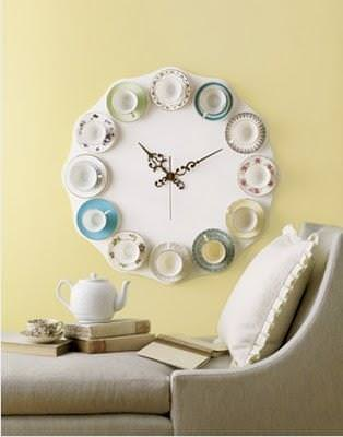 diy teacup clock wall decor tip junkie