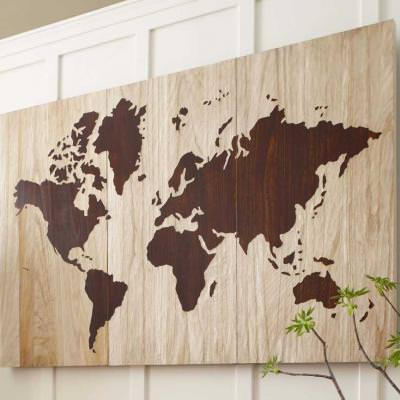 Diy wooden world map art tip junkie diy wooden world map art gumiabroncs Images