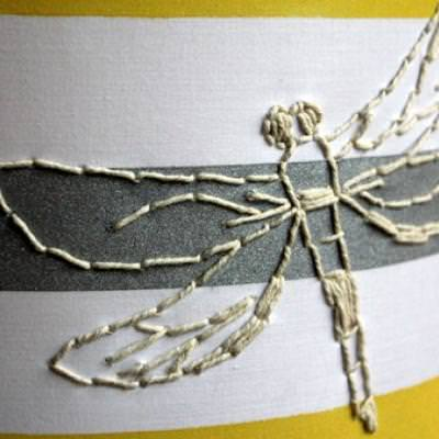 Dragonfly Lampshade {step by step}