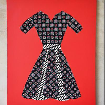 Fabric Dress Modern Art {artwork}