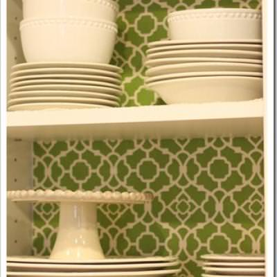 Fabric Lined Cabinets {Armoires & Cabinet}
