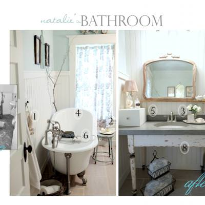 Farmhouse Bathroom Redo {before and after}
