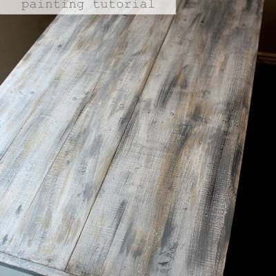 Faux Barn Wood {Wood Finishing}