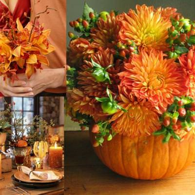 Flower Filled Pumpkin {Floral Arrangements}