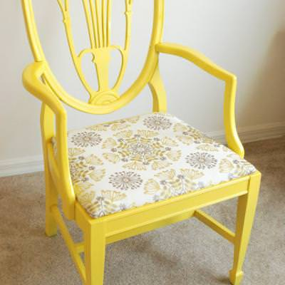 From Drab to Fab Chair Re-do {Occasional Chairs}