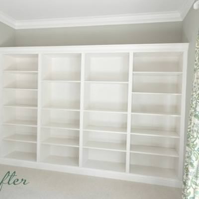 From Ikea Shelves to Built-In's {Shelving & Storage}