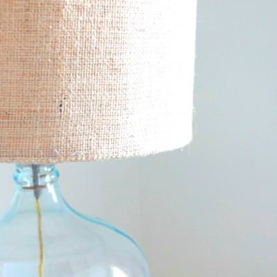Glass Lamps with Drum Shades {DIY}
