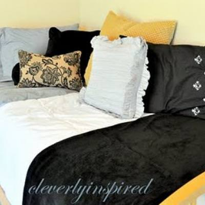 Guest Bedroom Makeover {before and after}