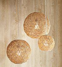 Hemp Pendant Lights {diy lights}