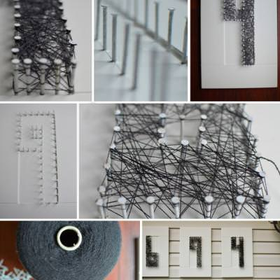 House Numbers String Art