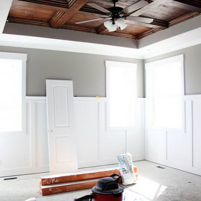 How to Build a Coffered Ceiling {step by step}