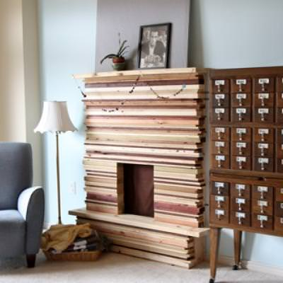 How to Build a Stacked Wood Fireplace