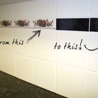 How To Cover Up Old Tile A Bathroom Tip Junkie