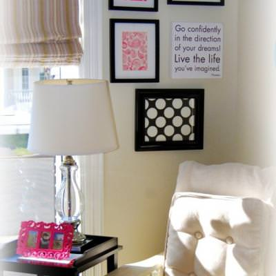 How to Create a Chic Wall Art Collection from Scapbook Paper {stationary}