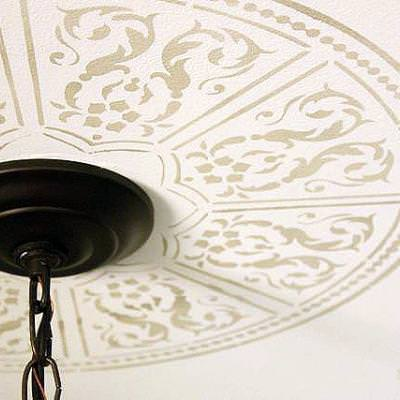 How to Create a Faux Ceiling Medallion {stencil}
