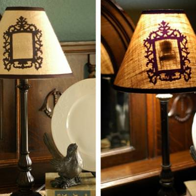 How to Create a Peek-a-boo Lampshade {inspired by Anthropologie}