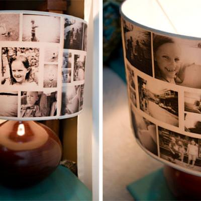 How to Create a Photo Collage Lampshade {diy light}