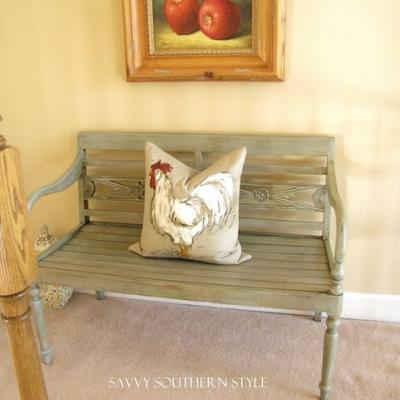 How to Create a Weathered Look {repainting furniture}