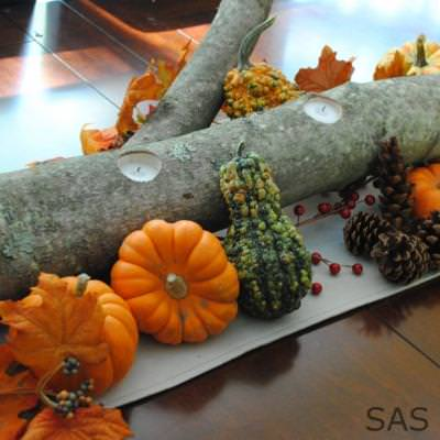 How to Create an Easy Fall Centerpiece {centerpieces}