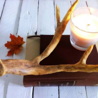 How to Create Faux Antlers {inspired by Pottery Barn}
