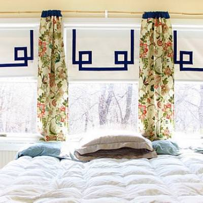 How to Embellish a Roller Shade {window treatments}