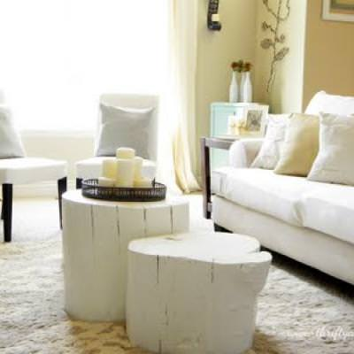 How to Make a Coffee Table from a Tree Stump {repurpose}