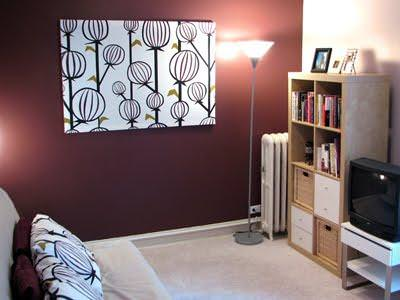 How to Make a Fabric Panel Wall Art