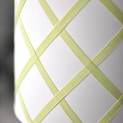 How to Make a Grosgrain Ribbon Lampshade {inspired by Pottery Barn Kids}