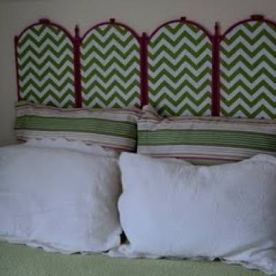 How to Make a Headboard from Fireplace Screen {homemade headboards}
