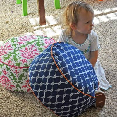 How to Make a Kids Floor Cushion {inspired by Land of Nod}