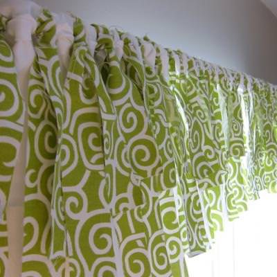 How to Make a No Sew Window Valance {inspired by Pottery Barn}