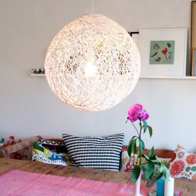 How to make a string ball chandelier diy light tip junkie how to make a string ball chandelier diy light aloadofball Choice Image