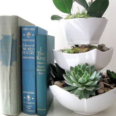 How to Make a Tiered Planter {inspired by West Elm}
