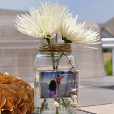 How to Make a Vacation Memory Vase {repurpose}