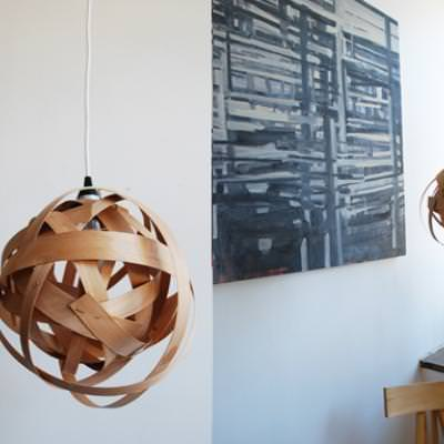 How to Make a Woven Lamp {diy light}