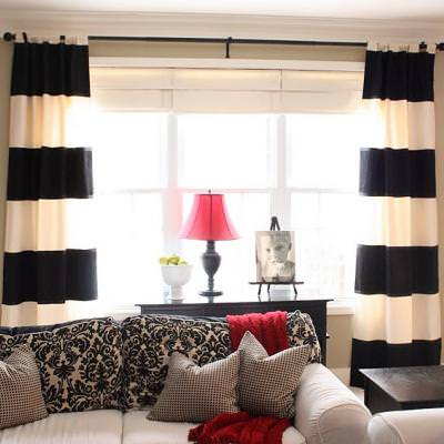 How to Make Striped Curtains