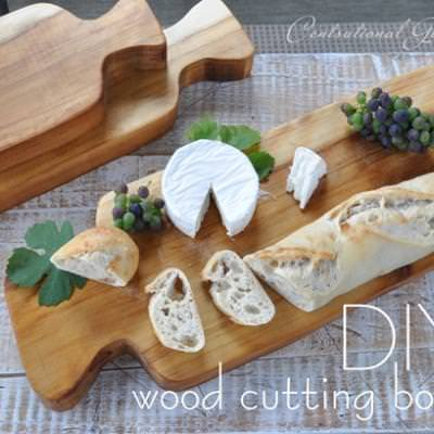 How to Make Your Own Cutting Boards {wood finishing}