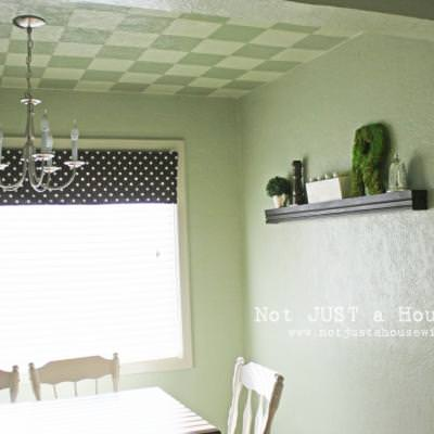 How to Paint a Checkerboard Ceiling {step by step}