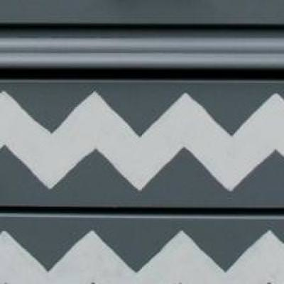 How to Paint Chevron on a Dresser