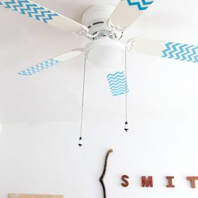 How to Paint Fan Blades {diy decorating}
