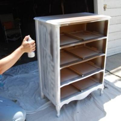 Gentil How To Paint Wood Furniture {spray Paint}