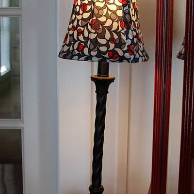 How to Recover a Lampshade {step by step}