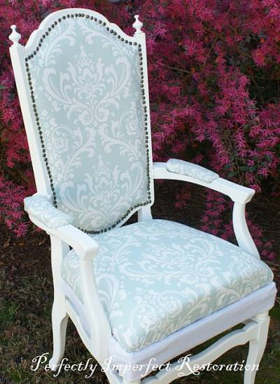 How to Reupholster a Chair {step by step}