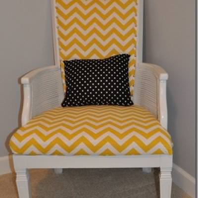 How To Reupholster A Wingback Chair {furniture Refurbishing}