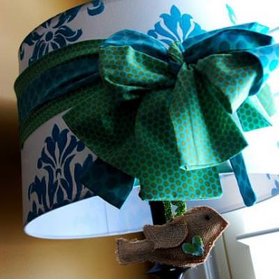 How to Stencil a Lampshade {step by step}