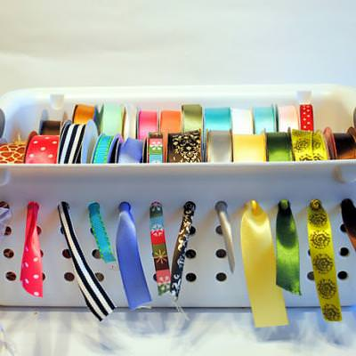 How to Store Your Ribbons {organize}