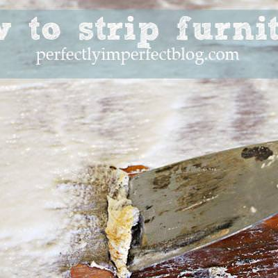 How to Strip Furniture {How to Remove Paint}